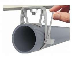 Abraçadeira para tubo pvc